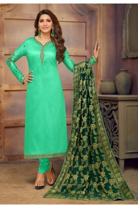 Green Colour Indian Salwar Suit.