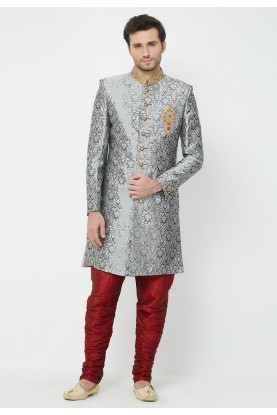 Grey Party Wear Indowestern.