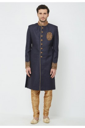 Men's Indowestern Blue Colour.