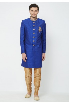 Royal Blue Colour Indowestern.