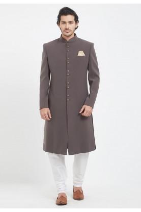 Grey Colour Men's Sherwani.