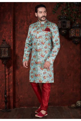 Blue,Maroon Colour Designer Indowestern.