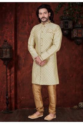 Cream Colour Indowestern.