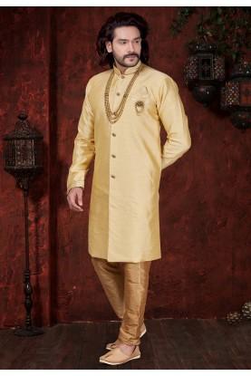 Cream Colour Indowestern For Men's