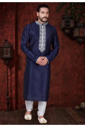 Blue Designer Kurta Pajama.