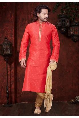 Pink,Red Designer Kurta Pajama.