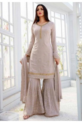 Light Purple Georgette Salwar Suit.
