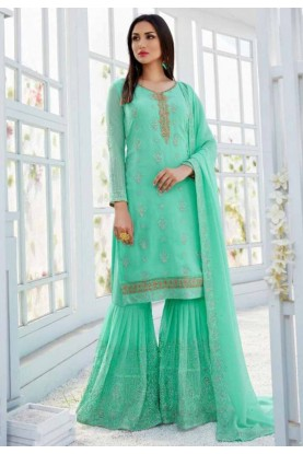 Green Colour Salwar Suit.
