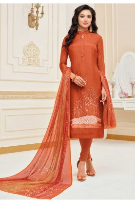 Orange Colour Salwar Suit.