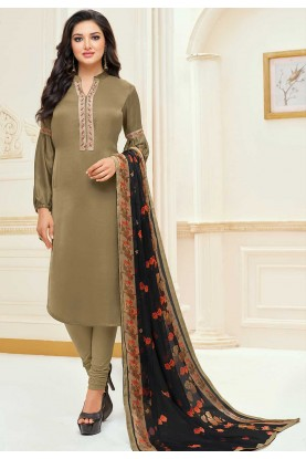 Green Colour Casual Salwar Suit.