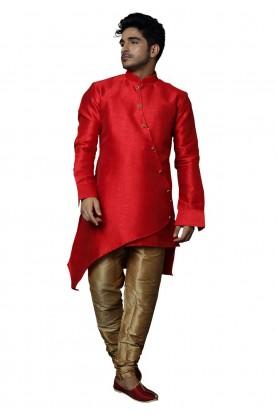 Red Colour Wedding Indowestern.