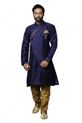 Blue Colour Men's Indowestern.