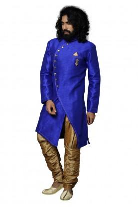 Blue Colour Readymade Indowestern.