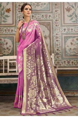 Pink Colour Saree.