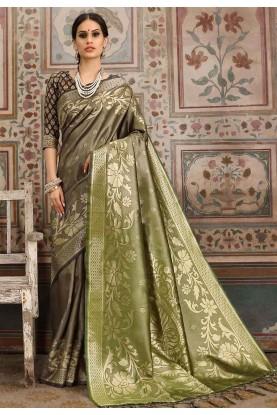 Beige Colour Silk Saree.