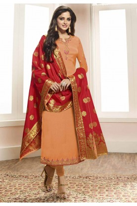 Orange Colour Salwar Suit.