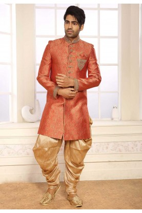 Red Designer Indowestern.