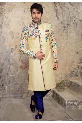 Cream Colour Party Wear Indowestern.
