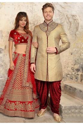 Brown Colour Designer Indowestern.