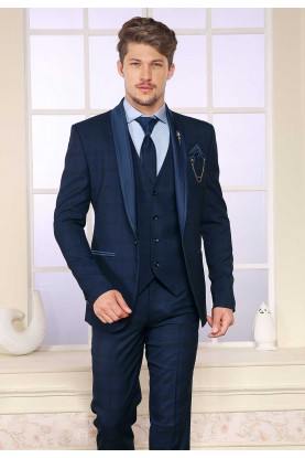 Blue Colour Designer Wedding Suit.