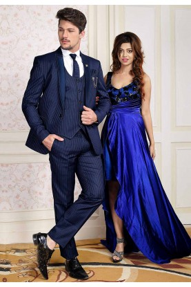 Stylish Designer Blue Colour Men's Suit.