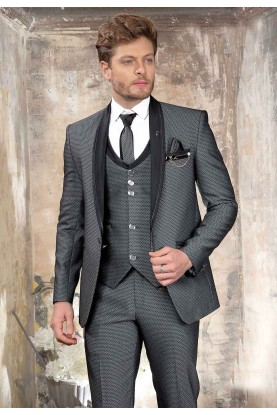 Unique Style Grey Colour Imported Fabric Designer Suit.