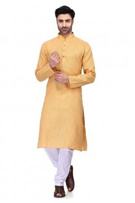 Orange Colour Readymade Kurta.