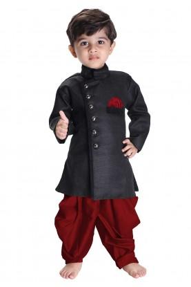 Black Colour Boy's Readymade Kurta Pajama.