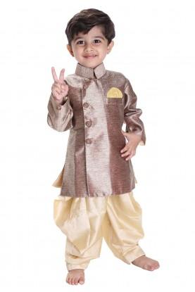 Golden Colour Boy's Kurta Pajama.
