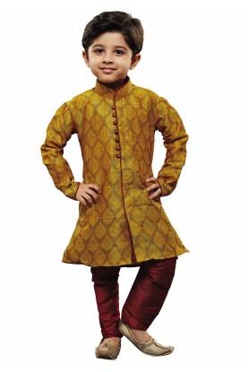 Yellow Colour Designer Kurta Pajama.