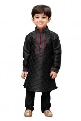 Black Colour Kid's Kurta Pajama.