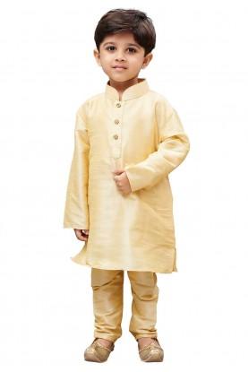 Cream Colour Traditional Kurta Pajama.