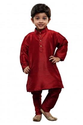 Boy's Kurta Pajama Maroon Colour.