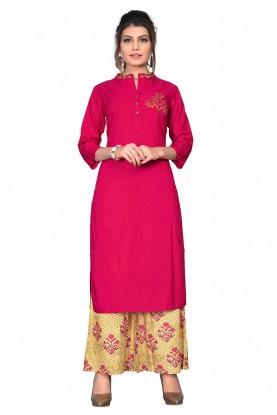 Pink Colour Designer Kurti.