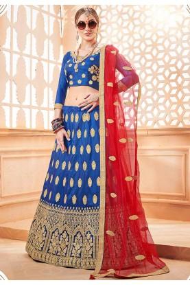 Blue Colour Party Wear Lehenga Choli.