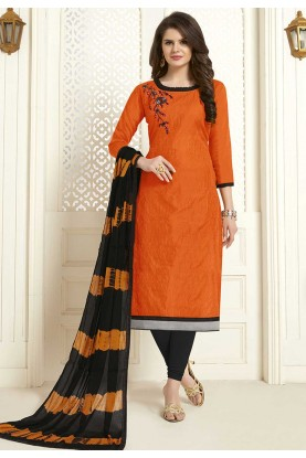 Orange Colour Salwar Kameez.