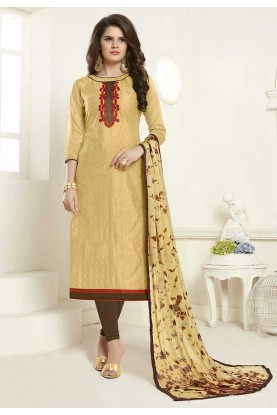 Beige Colour Designer Salwar Suit.