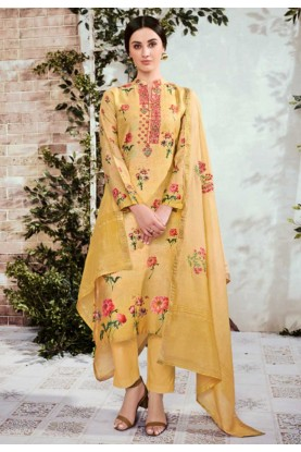 Yellow Colour Designer Palazzo Salwar Suit.