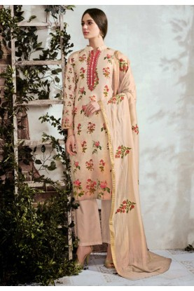 Beige Colour Printed Salwar Suit.,