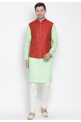 Green,Maroon Colour Kurta Pajama.