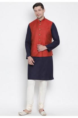Blue,Maroon Colour Readymade Kurta Pajama.