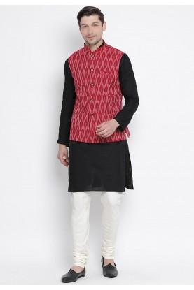 Black,Maroon Colour Readymade Kurta Pajama.