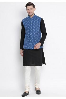 Black,Blue Colour Readymade Kurta Pajama.