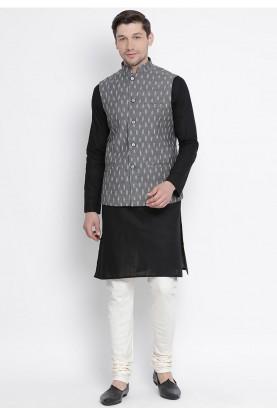 Black,Grey Colour Party Wear Kurta Pyjama.