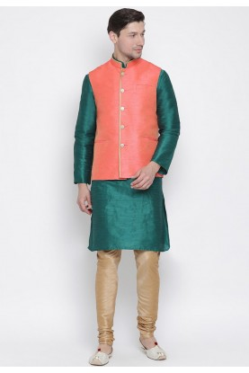 Green,Peach Colour Readymade Kurta Pajama.