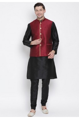 Black,Maroon Party Wear Kurta Pajama.