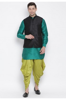 Dhoti Kurta Pajama Green,Blue Colour.