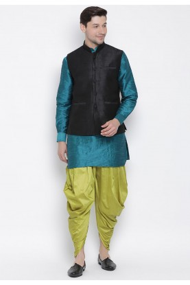 Cotton Silk Dhoti Kurta Pajama.