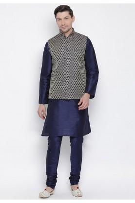 Blue Readymade Kurta Pajama.