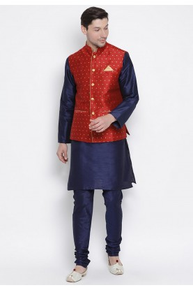 Party Wear Kurta Pajama Maroon,Blue Colour.